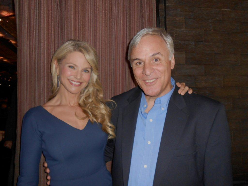 Joseph Mangano and RPHP Board member Christie Brinkley